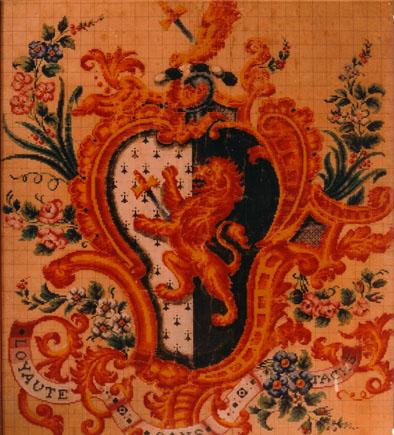 Armorial tapestry JL Strudwicke